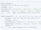 Customizable jQuery Date/Time Formatting Plugin - jTimer