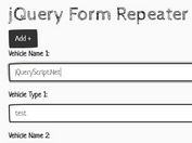 Create Repeatable Groups Of Form Fields - jQuery Form Repeater