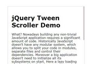 jQuery Inner Scrollbar Plugin with Smooth Scrolling Effect - Tween Scroller