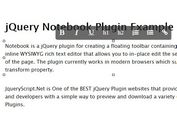 <b>jQuery Inplace WYSIWYG Rich Text Editor - notebook</b>