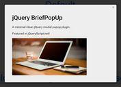 Minimal Animated jQuery Modal Dialog Plugin - BriefPopUp
