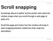 jQuery Plugin For Animated Vertical Scroll Snapping - Scrollsnap
