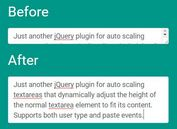 jQuery Plugin For Auto Grow Of Textarea On Typing - autoresize