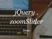 jQuery Plugin For Automatic Background Slideshow with Image Zoom Effect - zoomslider