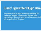 jQuery Plugin For Basic Text Typewriter Effect - Typewriter