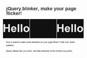 jQuery Plugin For Blinking Html Elements - Blinker