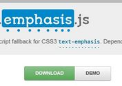 jQuery Plugin For CSS3 Emphasis Marks - emphasis.js