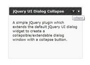 jQuery Plugin For Collapsible jQuery UI Dialogs