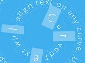 jQuery Plugin For Creating Curved Text - CurvedText