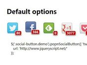 jQuery Plugin For Custom Social Buttons with Share Counts - POP'n SocialButton