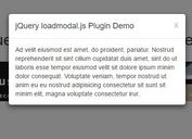 jQuery Plugin For Dynamic AJAX Bootstrap Modal - loadmodal.js