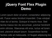 jQuery Plugin For Dynamic Font Sizes - Font Flex