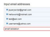 jQuery Plugin For Email Address Management - Multiple Emails