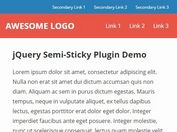 jQuery Plugin For Fixed Navigation Based On Scroll Direction - Semi-Sticky