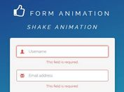 jQuery Plugin For Form Validation Animations Using Animate.css