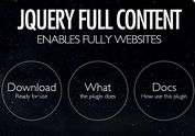jQuery Plugin For Full Containers with Scroll Animation Support - FullContent