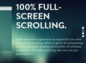 jQuery Plugin For Fullscreen Scrolling Presentations - Alton