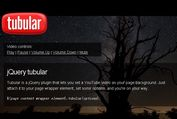 jQuery Plugin For Fullscreen YouTube Video Backgrounds - tubular