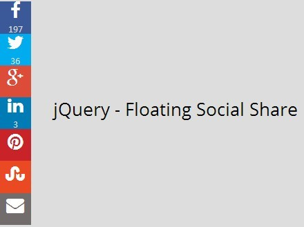 jQuery Plugin For Floating Social Share Bar