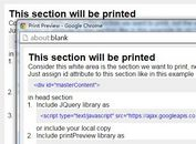jQuery Plugin For Html Print Preview - printPreview