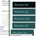 jQuery Plugin For Minimal Sidebar Navigation - Xeo Menu