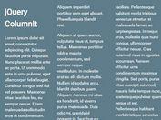 jQuery Plugin For Multi-column Text Layout - ColumnIt