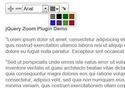 <b>jQuery Plugin For On-Page Text Control Plugin - Text Zoom</b>