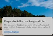 jQuery Plugin For Responsive Full Screen Image Slider - bgswitcher