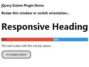 jQuery Plugin For Responsive Text with Custom Scale Ratio - Scalem