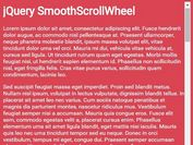 jQuery Plugin For Smooth Scrolling Effect with Mouse Wheel