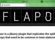 jQuery Plugin For Split Flap Text Animation - Flapper