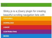 jQuery Plugin For Sticky Navigation Lists with Stacking Headers - slinky