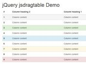 jQuery Plugin For Touch-enabled Draggable Table Columns - jsdragtable