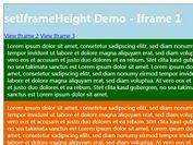 jQuery Plugin To Auto Adjust iFrame Height - setIframeHeight