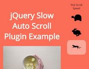 jQuery Plugin To Auto Scroll Down Html Page - Slow Auto Scroll