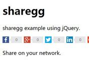 jQuery Plugin For Create Flat Style Social Share Buttons - sharegg