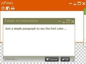 jQuery Plugin To Create Multifunctional Floating Panels - jsPanel 3