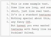 jQuery Plugin To Create Textarea With Line Numbering - LineNumbers