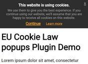 jQuery Plugin To Display EU Cookie Law Alert Popups
