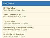 jQuery Plugin To Display Google Calendar Feeds On Your Website