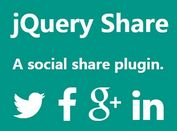 jQuery Plugin To Generate Social Share Links  - share