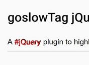 jQuery Plugin To Highlight #HashTags In Text Fields - goslowTag