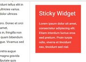 jQuery Plugin To Make Element Sticky Within A Container - Sticky