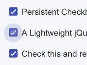 jQuery Plugin To Persist Checkbox State Using Local Storage