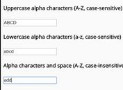 jQuery Plugin To Restrict Text Field To Certain Characters - RestrictedTextField