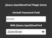 jQuery Plugin To Reveal Hidden Passwords - inputShowPwd