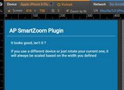 jQuery Plugin To Scale Web Content Based On Specific Width  - Smartzoom