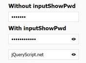 jQuery Plugin To Show Hidden Password In Password Field - inputShowPwd