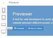 jQuery Plugin To Test Website On Different Screen Resolutions - Previewer