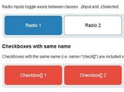 jQuery Plugin To Turn Radio Buttons & Checkboxes Into Labels - zInput
